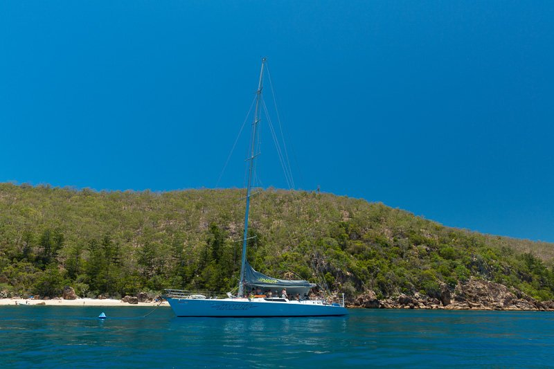 Prosail Yacht moored in the Whitsunday Islands