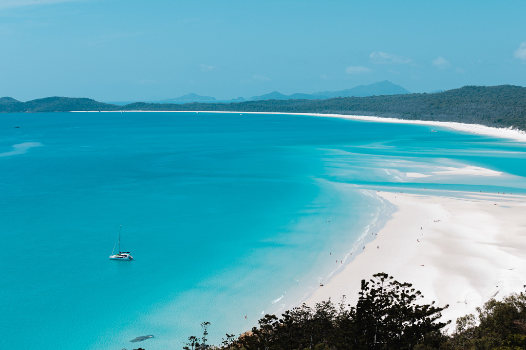 Lookout Over Whitehaven Beach Whitsunday Islands Australia