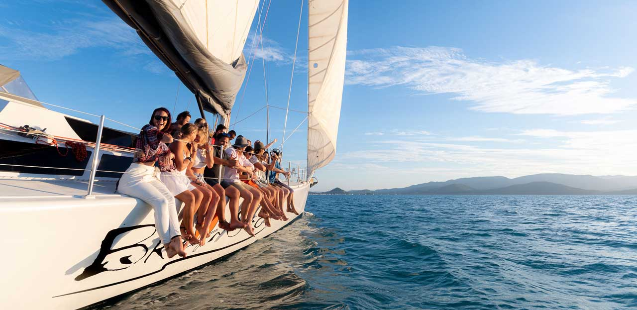 A Skippered Yacht Charter Whitsundays On The Sailing Boat Named BroomStick